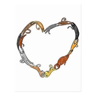anneau de chat dans le love~ carte postale