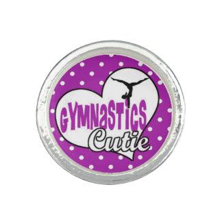 anneau de cutie de gymnastique customizeable bagues avec photo