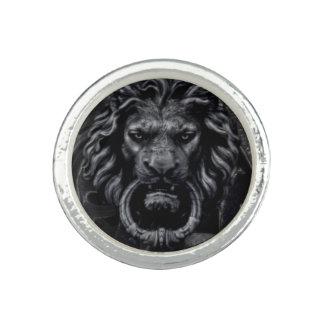 Anneau de lion bagues avec photo