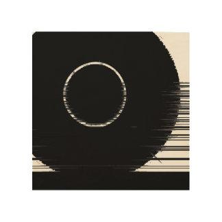 anneau noir impression sur bois