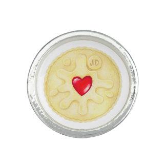 Anneau poisseux d'illustration de biscuit de bague avec photo