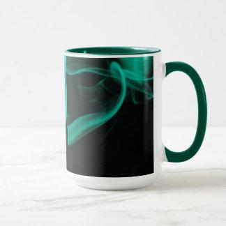 Anneau vert de fumée mug