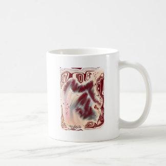 Anneaux d'arbre rouges abstraits de l'art | mug