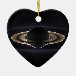 Anneaux de Saturne Ornement Cœur En Céramique