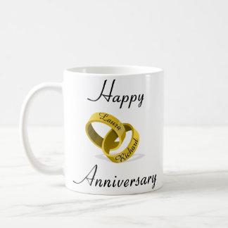 Anneaux gravés personnalisables - cadeau mug