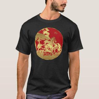 Année chinoise de T-shirt de nouvelle année du