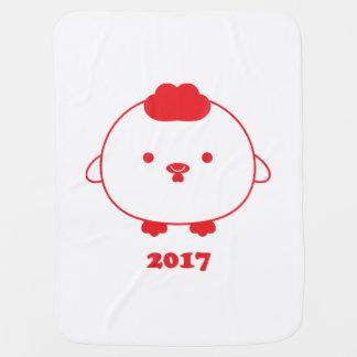 Année de la couverture 2017 de bébé de coq couvertures pour bébé