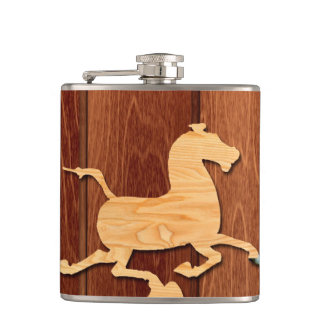 Année du flacon en bois de cheval