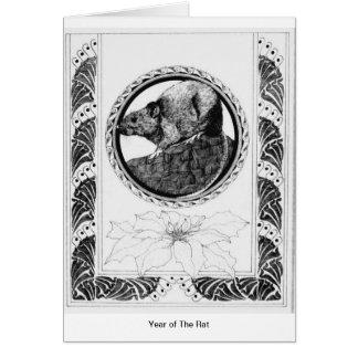 Année du rat carte de vœux