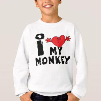"""Année du singe """"j'aime mon singe """" sweatshirt"""