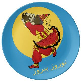Année persane de ciel bleu de Pirooz de Haji Assiette En Porcelaine