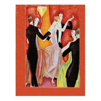 Années '20 d'hurlement dansant des couples cartes postales