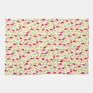 Années '50 astucieuses - serviette de thé rose de