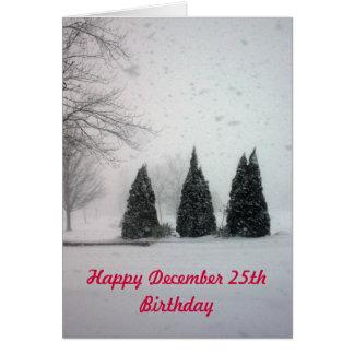 Anniversaire 6 de Noël - neige douce Carte De Vœux