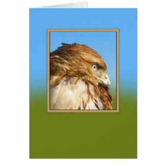 Anniversaire, carte Rugueux-à jambes de faucon