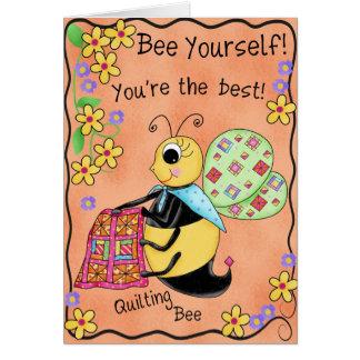Anniversaire d'abeille fantaisie de miel d'abeille carte de vœux