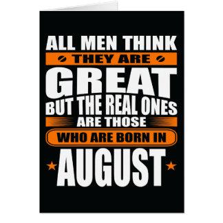 Anniversaire d'août (ajoutez votre texte) carte de vœux