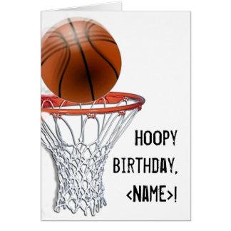 Anniversaire de basket-ball carte de vœux