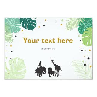 Anniversaire de carte d'insertion de zoo de jungle