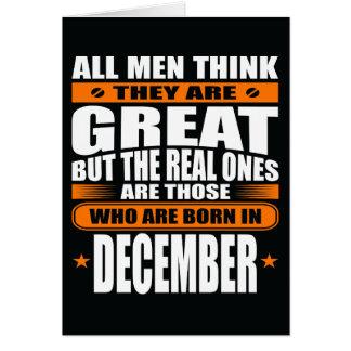 Anniversaire de décembre (ajoutez votre texte) carte de vœux