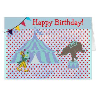 Anniversaire de enfant magique de scène de tente carte de vœux