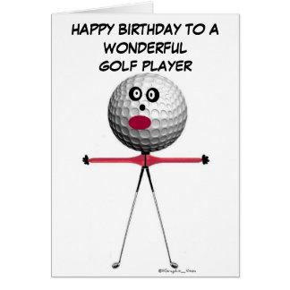 Anniversaire de joueur de golf carte