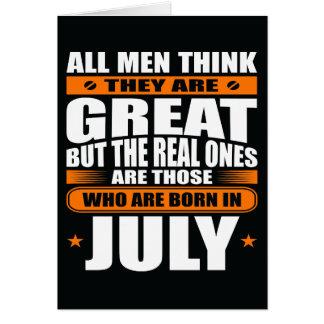 Anniversaire de juillet (ajoutez votre texte) carte de vœux