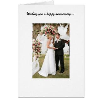 Anniversaire de mariage carte de vœux