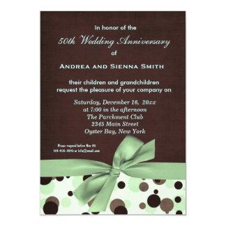 Anniversaire de mariage de ChocoMint Carton D'invitation 12,7 Cm X 17,78 Cm