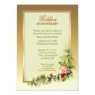 anniversaire de mariage d'or chic - 50 carton d'invitation  12,7 cm x 17,78 cm