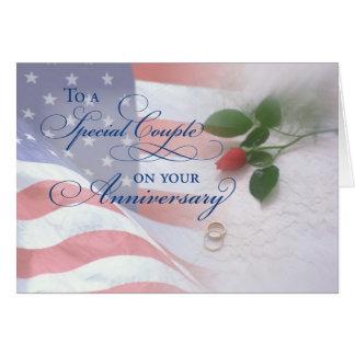 Anniversaire de mariage militaire carte