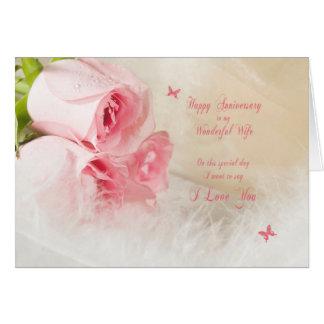 Anniversaire de mariage pour l'épouse avec des carte de vœux
