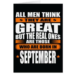 Anniversaire de septembre (ajoutez votre texte) carte de vœux