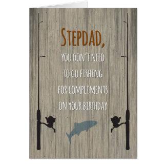 Anniversaire de Stepdad, pêchant pour des Carte De Vœux