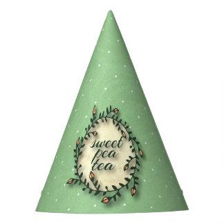Anniversaire de thé de pois doux - à pois vert chapeaux de fètes