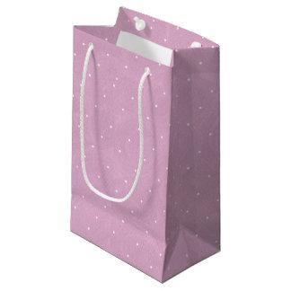 Anniversaire de thé de pois doux - rose petit sac cadeau