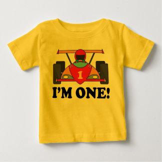 Anniversaire de voiture de course le ęr je suis un t-shirt pour bébé