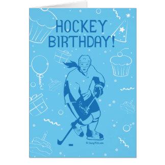 Anniversaire d'hockey ! Carte de voeux - femelle