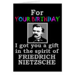 Anniversaire d'humour de Nietzsche Cartes