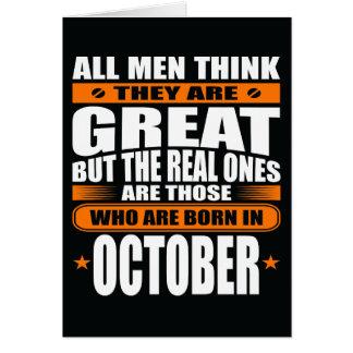 Anniversaire d'octobre (ajoutez votre texte) carte de vœux