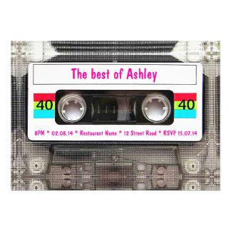 Anniversaire drôle d enregistreur à cassettes du D