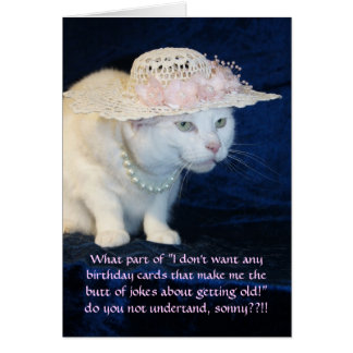 Anniversaire drôle personnalisable de chat pour carte