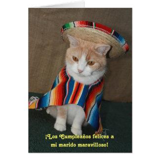 Anniversaire espagnol pour le mari carte
