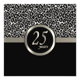 Anniversaire heureux 25 ans carton d'invitation  13,33 cm
