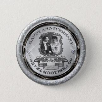 Anniversaire ID195 de cru soixantième Badge Rond 5 Cm