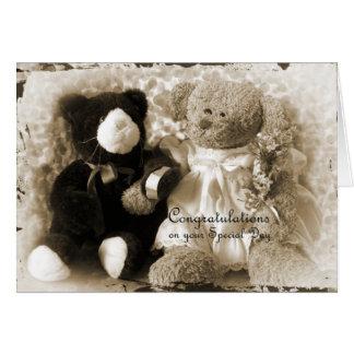 Anniversaire-Mariage - ours et peluche Carte De Vœux