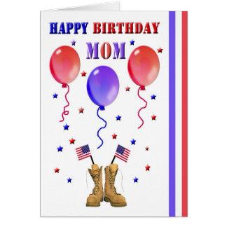 Anniversaire militaire de maman carte