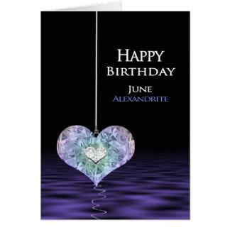 Anniversaire - pierre porte-bonheur - Alexandrite Carte De Vœux