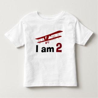 Anniversaire plat rouge simple t-shirt pour les tous petits