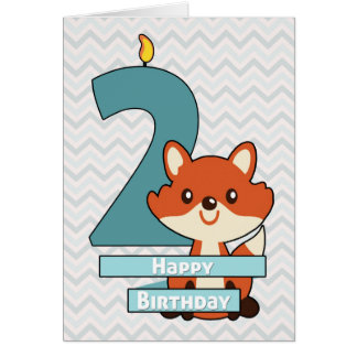 Anniversaire pour un enfant tournant deux années carte de vœux